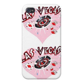 Corazones rosados de Las Vegas iPhone 4/4S Fundas