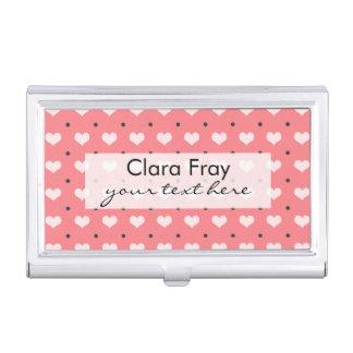 corazones rosados en colores pastel del amor, cajas de tarjetas de presentación