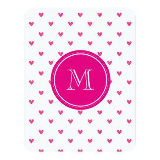 Corazones rosados mexicanos del brillo con el invitación 10,8 x 13,9 cm