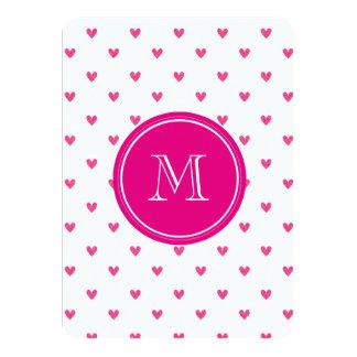 Corazones rosados mexicanos del brillo con el invitación 11,4 x 15,8 cm