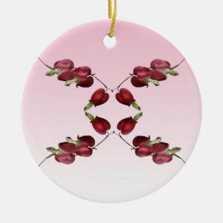 Corazones sangrantes adorno redondo de cerámica
