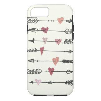 corazones y flechas funda iPhone 7