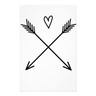 Corazones y flechas papelería