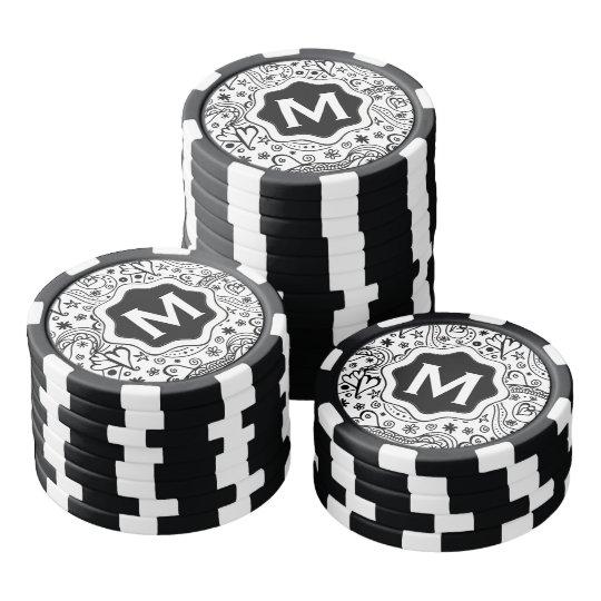 Corazones y modelo personalizados de moda del juego de fichas de póquer
