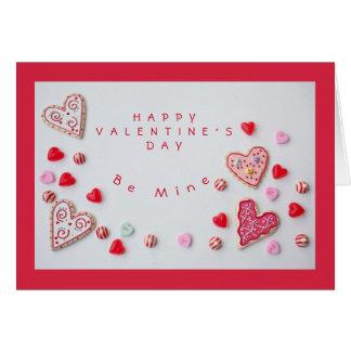 Tarjeta Corazones y tarjeta del día de San Valentín del