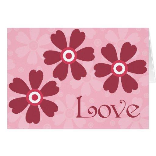 Corazones y tarjeta del el día de San Valentín del