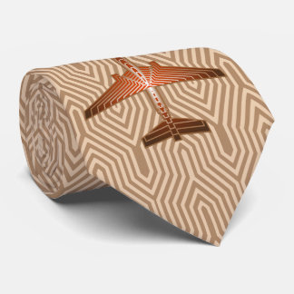 Corbata Aeroplano del art déco, bronce, oro y moho Brown
