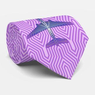 Corbata Aeroplano del art déco, púrpura violeta y gris