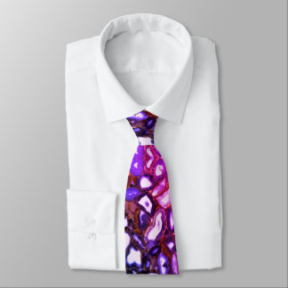 Corbata Ágatas rosadas azules púrpuras