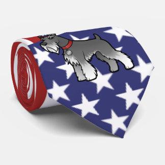 Corbata Añada su propio mascota y bandera