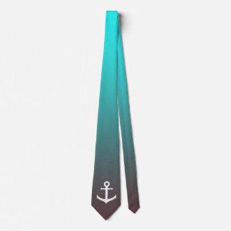 Corbata Ancla blanca del rojo el | de la aguamarina de la