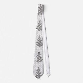 Corbata Árbol de navidad blanco y negro de lujo del