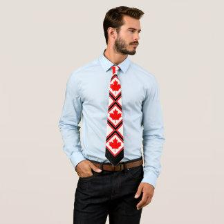 Corbata Arce canadiense en blanco negro rojo