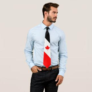 Corbata Arce canadiense en negro blanco rojo