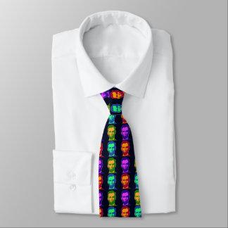Corbata Arte pop cuatro Abraham Lincolns