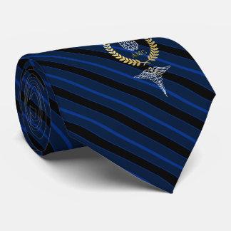 Corbata Azul del monograma del profesional de salud mental