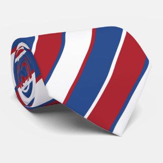 Corbata Bandera tricolora Rojo-Blanco-Azul del OPUS