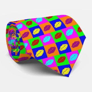 Corbata Besos coloridos del lápiz labial
