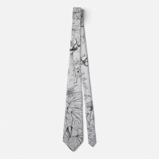 Corbata blanco y negro