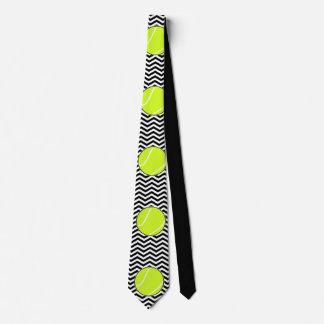 Corbata blanco y negro del jugador de tenis o del