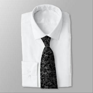 Corbata Camuflaje gris negro y oscuro de Camo moderno -