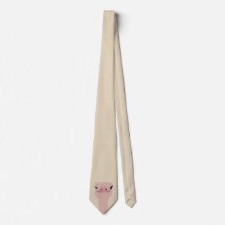 Corbata Cara divertida de la avestruz