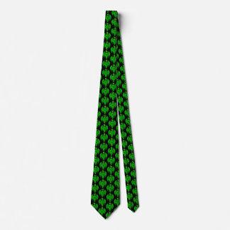 Corbata céltica verde del dragón