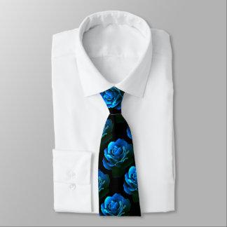 Corbata Color de rosa azul