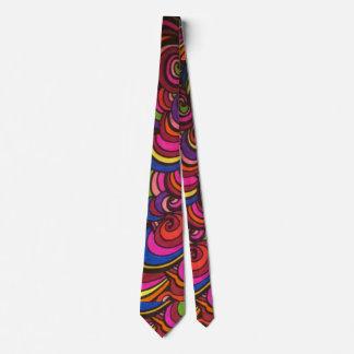 ¡Corbata colorida SALVAJE y de SWIRLY-! Corbatas