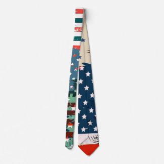 Corbata Como un americano. Bandera del grunge de los