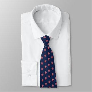 Corbata con acuarela de hoja otoñal 2