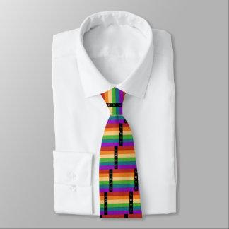 Corbata de la bandera LGBT del arco iris