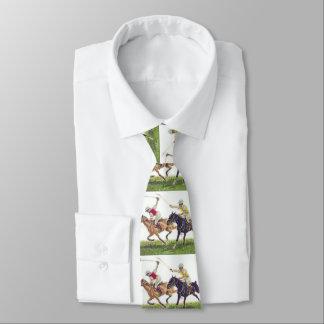Corbata de la impresión de los jugadores de polo