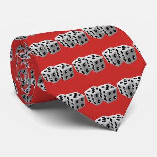 Corbata de los dados de los jugadores de los dados