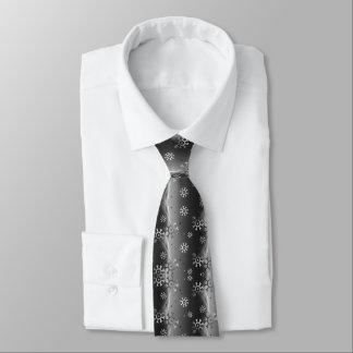 Corbata de plata del navidad del copo de nieve de