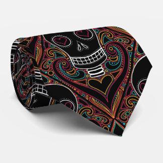 Corbata del damasco del cráneo, lazo