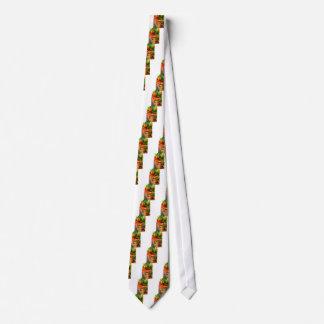 Corbata Detalle de una placa del tomate frito del tocino y