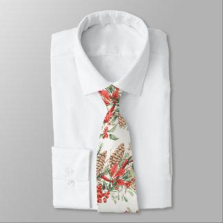 Corbata Día de fiesta botánico de las bayas del pino del
