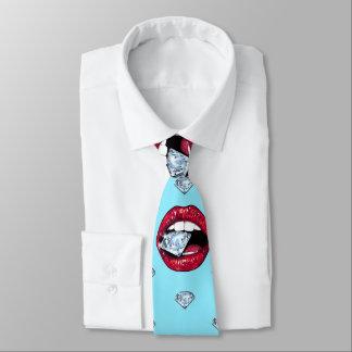 Corbata Diamante elegante de los labios femenino