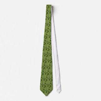 Corbata Diseño del signo de interrogación en verde