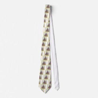 Corbata Diseño floral de la meditación de Sha Davis