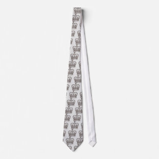 Corbata Diseño real con la corona en estilo del vintage