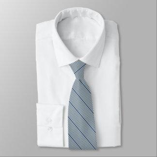 Corbata Dos grisáceos azules rayados de los vaqueros del
