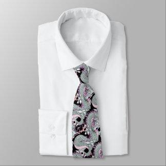 Corbata Dragón gris del chapoteo en rosa