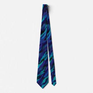 Corbata Efecto de mármol púrpura y azul