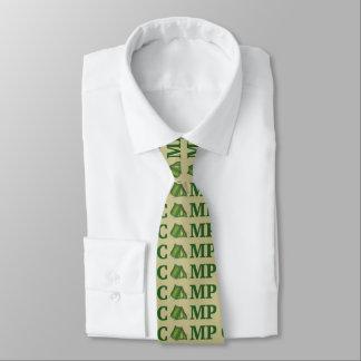 Corbata El acampar de verano verde de la tienda del CAMPO