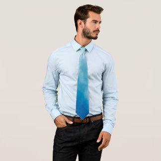 Corbata El azul de lujo se nubla la acuarela