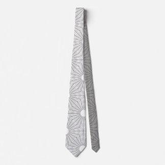 Corbata El espiral redondea tema blanco y negro del