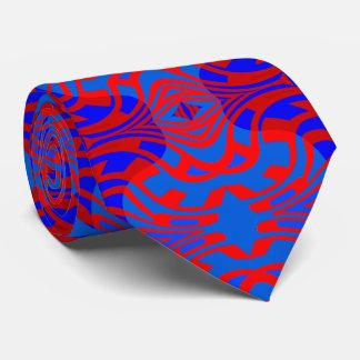 Corbata El lazo de la moda del laberinto para el azul de