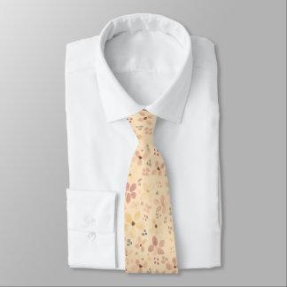 Corbata El lazo de seda de los hombres, melocotón, marrón,